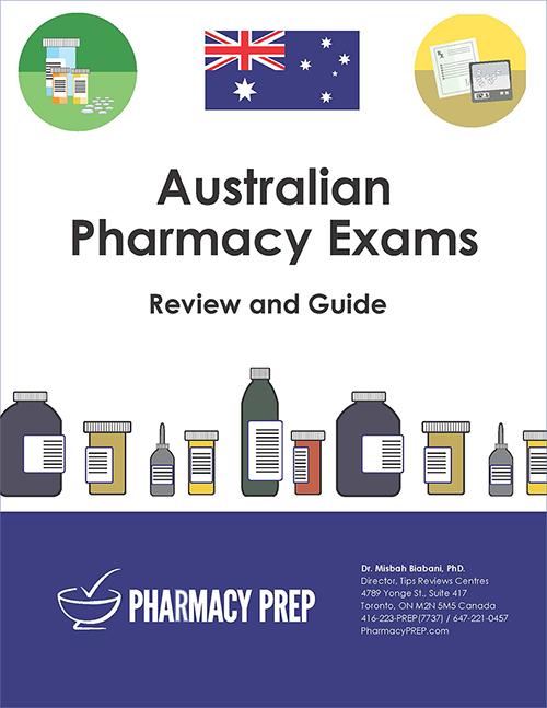 Australian Review Books by Pharmacy Prep