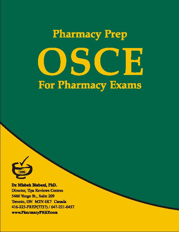 PEBC OSCE Books by Pharmacy Prep