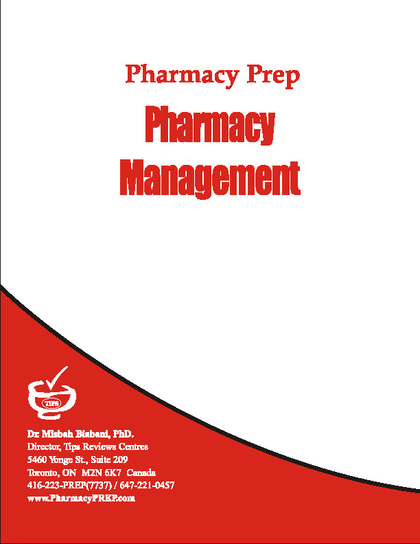 Pharmacy Operational Managements - Misbah Biabani, Ph.D.