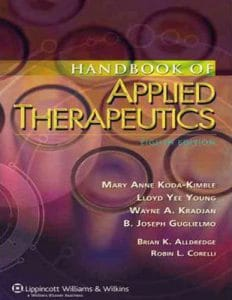 Applied Therapeutics: The Clinical Use of Drugs 8th Edition